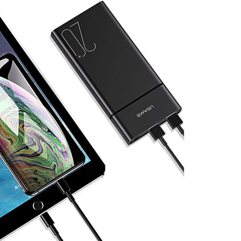 Портативное зарядное устройство Usams US-CD75 Power Bank 20000 mA - Фото 2