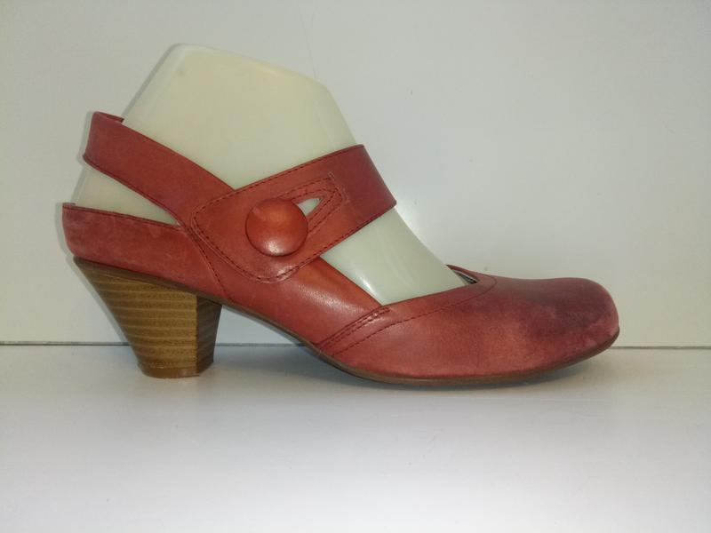 Туфли с открытой пяткой босоножки cara london, р. 37,5-38. кожа