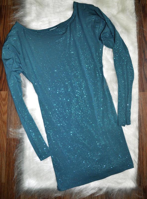Мерцающее вечернее платье-мини или туника от terranova