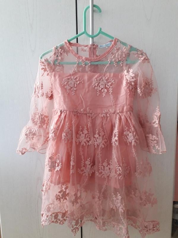 Нежное и милое шифоновое платье с вышивкой. спешите, количеств... - Фото 2