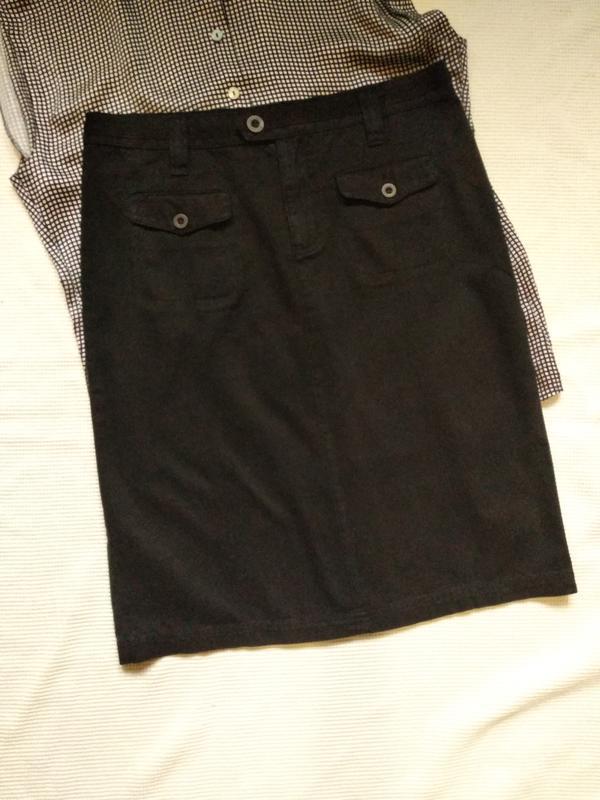 Юбка спвдниця прямая джинсовая коттоновая
