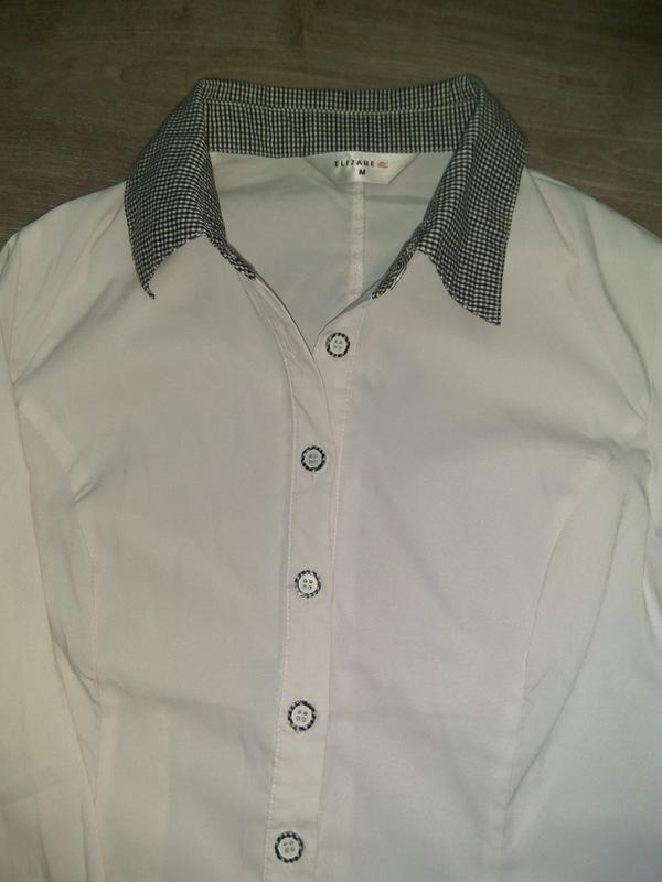 Рубашка, блузка на девочку для школы подростковые/ школьная форма - Фото 4