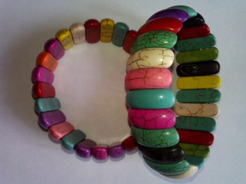 Широкий браслет из камней самоцветов - Фото 2