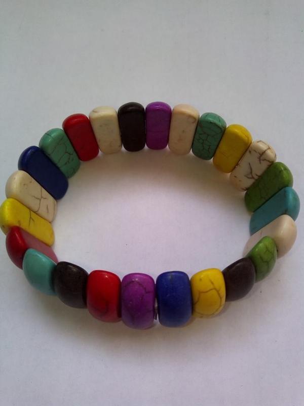 Широкий браслет из камней самоцветов - Фото 3