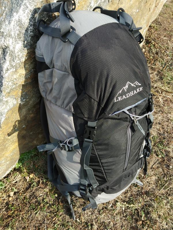 Каркасный туристический рюкзак с чехлом LEADHAKE - Фото 3
