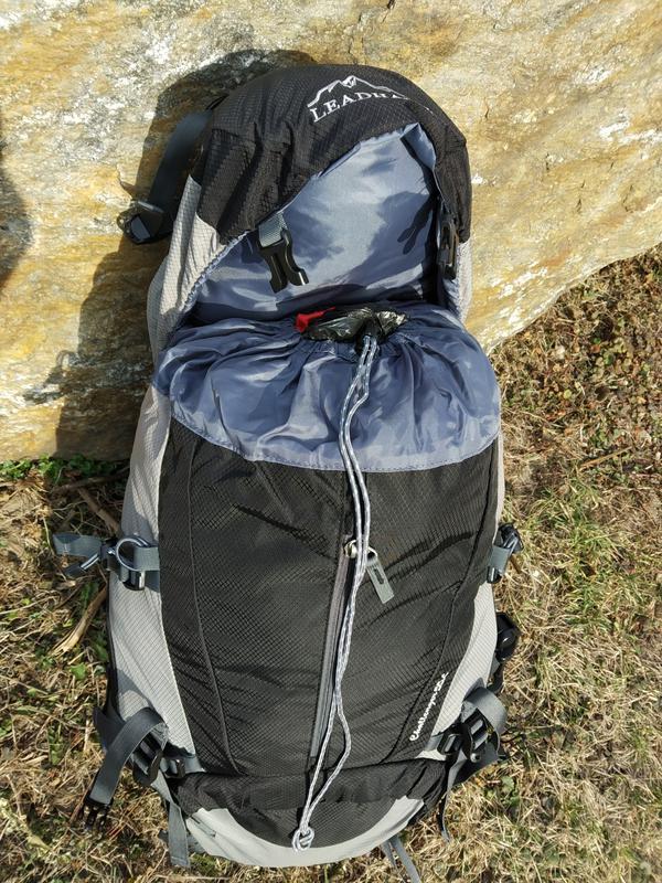 Каркасный туристический рюкзак с чехлом LEADHAKE - Фото 4