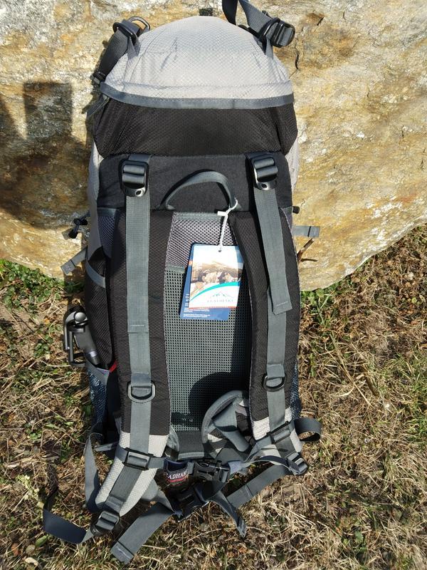 Каркасный туристический рюкзак с чехлом LEADHAKE - Фото 6