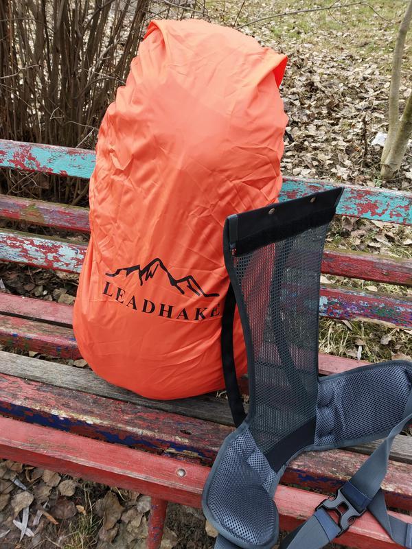 Каркасный туристический рюкзак с чехлом LEADHAKE - Фото 7