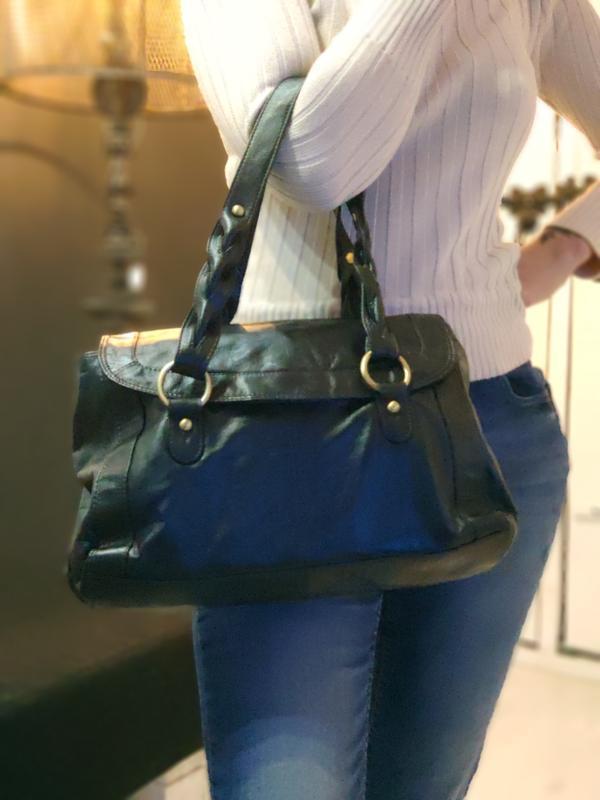 F&f 100% оригинальная кожаная сумка.