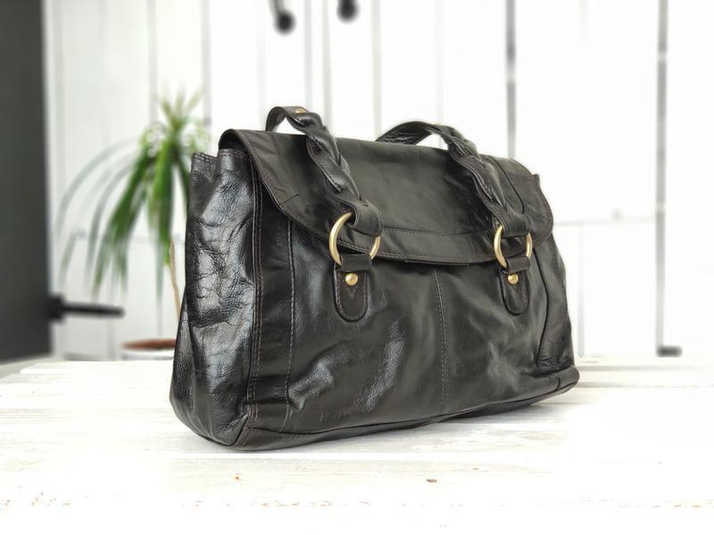F&f 100% оригинальная кожаная сумка. - Фото 4
