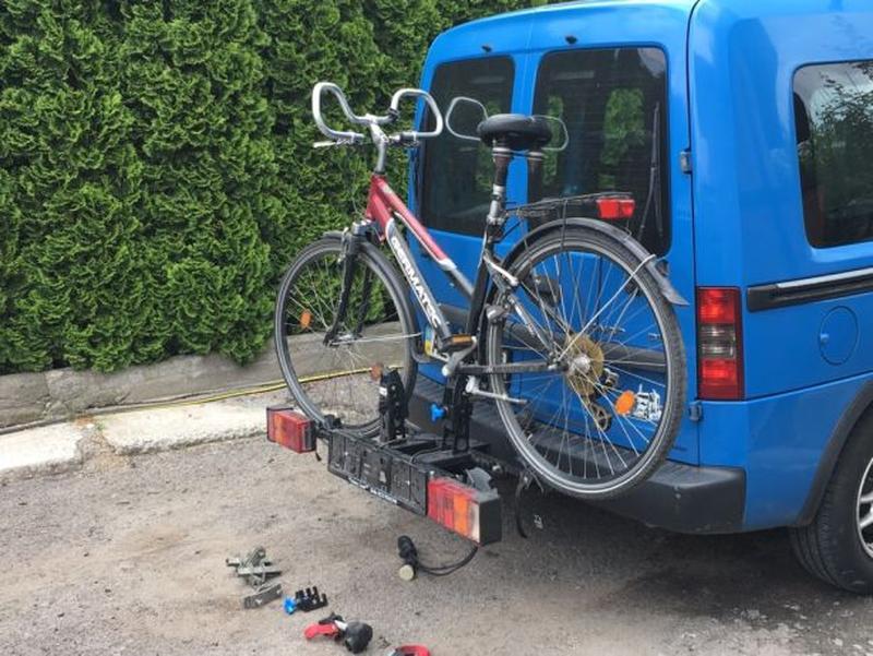 Крепления для перевозки велосипеда на фаркопе - Фото 2