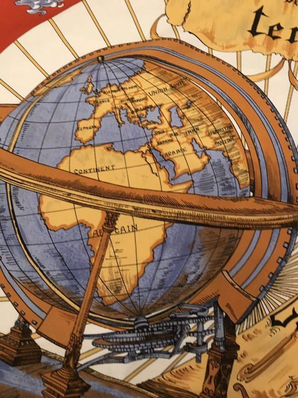 Платок глобус - Фото 4
