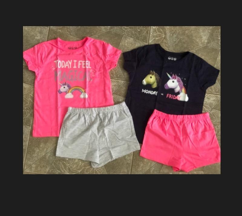Пижамы, піжами Primark 2 шт./уп на девочку 4-5 лет, рост 110 см - Фото 2