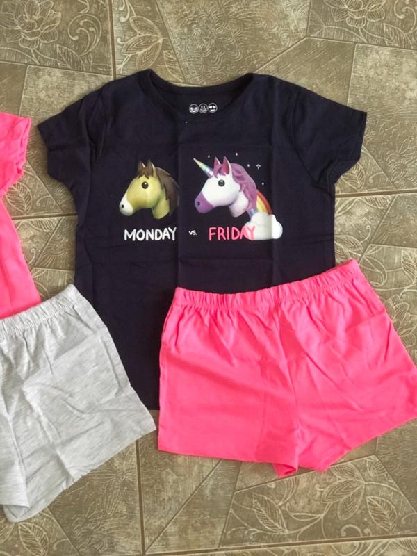 Пижамы, піжами Primark 2 шт./уп на девочку 4-5 лет, рост 110 см - Фото 3