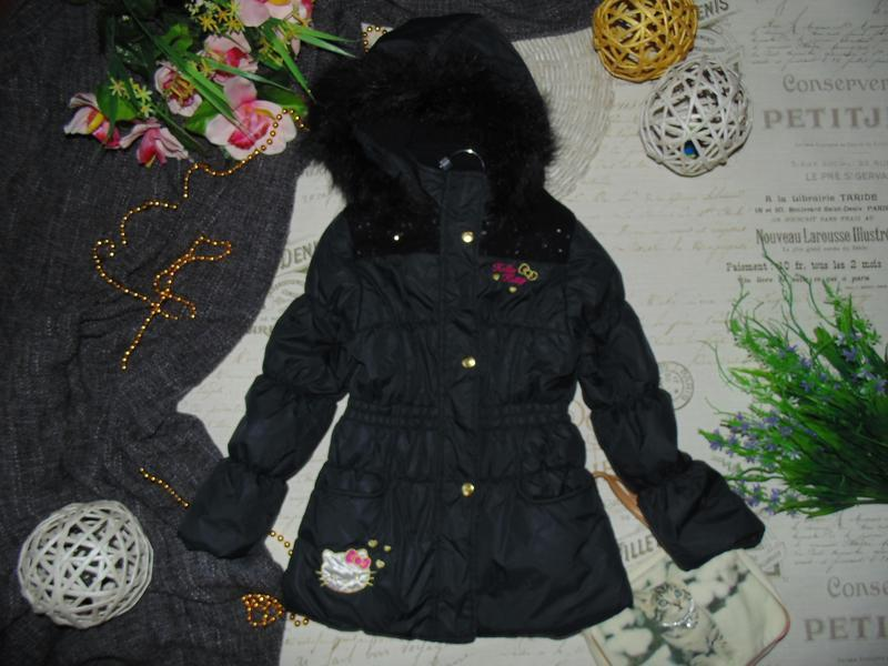 7лет.гламурная куртка hello kitty.mега выбор обуви и одежды - Фото 2