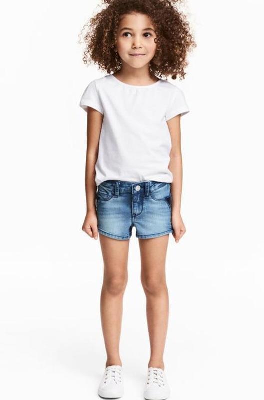 Джинсовые шорты на девочку 2-3 года h&m