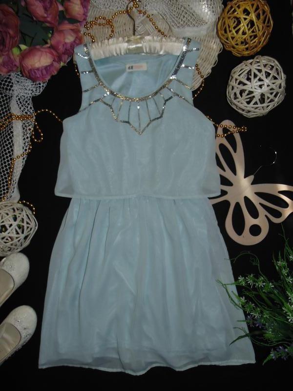 Шикарное нарядное шифоновое платье h&m.mега выбор обуви и одежды! - Фото 2
