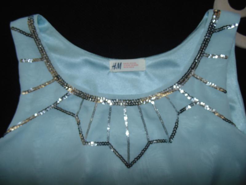 Шикарное нарядное шифоновое платье h&m.mега выбор обуви и одежды! - Фото 4