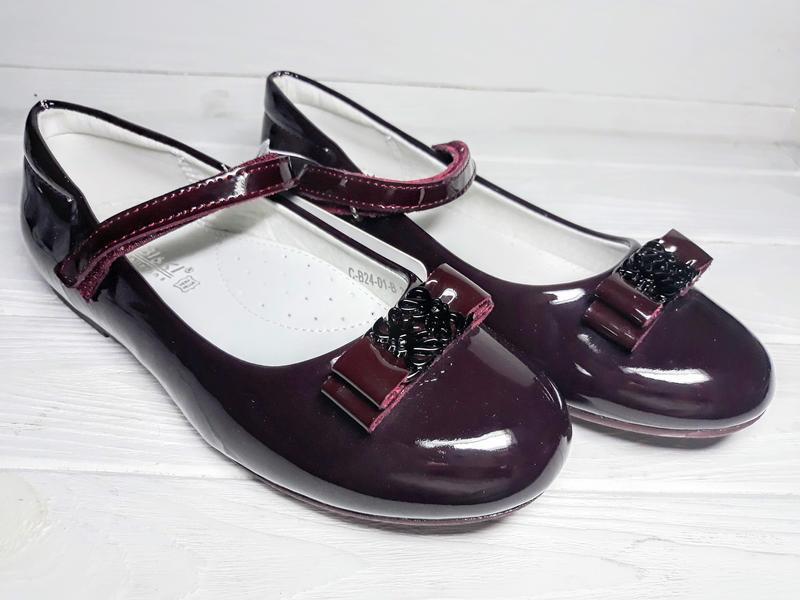 Туфли tom.m для девочек бордо лаковые 35p/36p