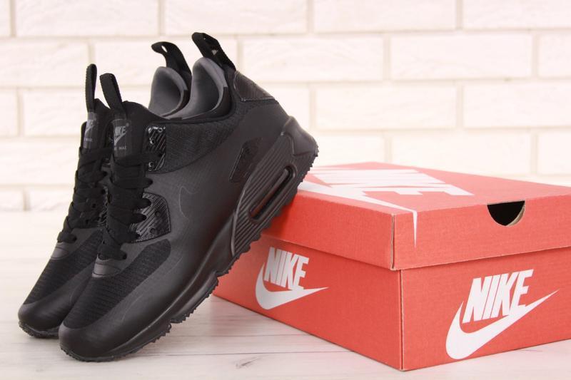 Nike Air Max 90 кожаные черно белые (40 45) — SoulTrend.ru