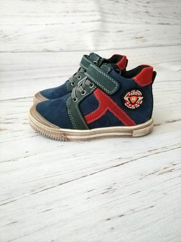 Кожаные ботинки для мальчиков bi&ki