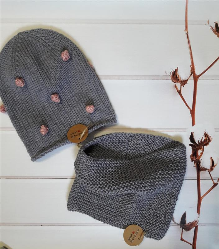 Hand made шапка снуд для девочки для мальчика - Фото 2