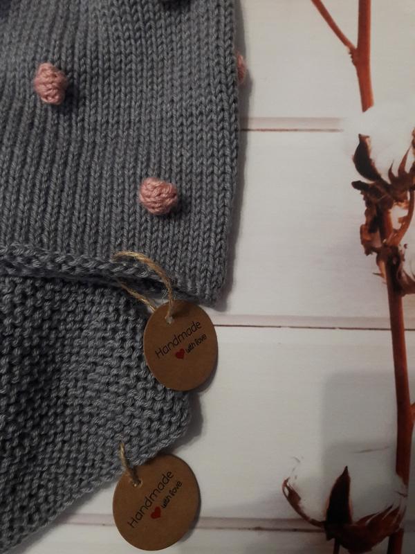 Hand made шапка снуд для девочки для мальчика - Фото 3