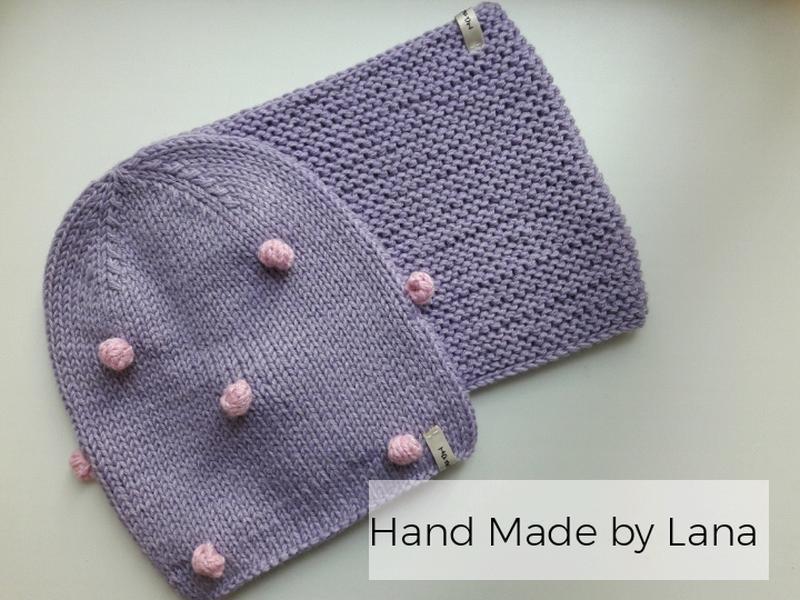 Hand made шапка для девочки осенняя шапочка для девочки - Фото 3