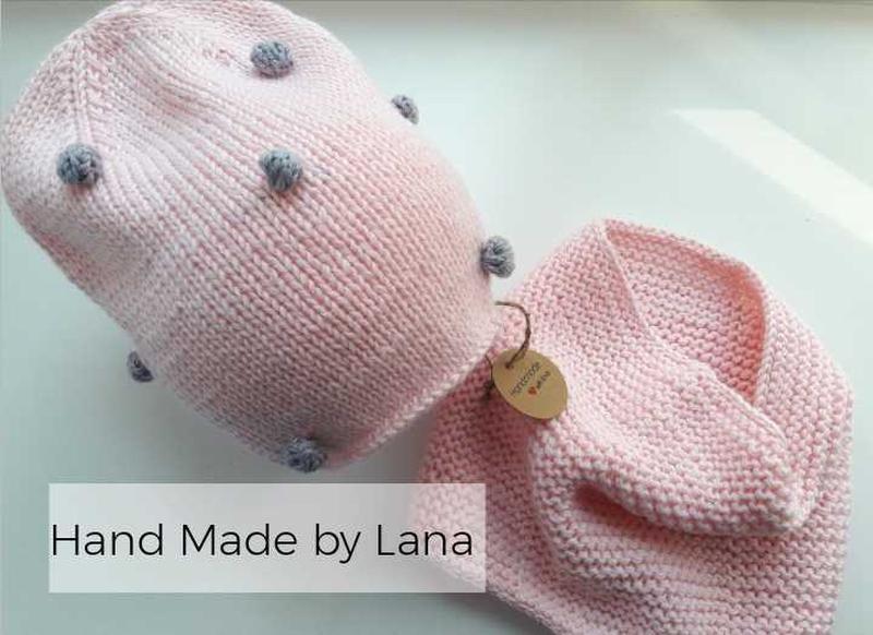 Hand made шапка для девочки шарф для девочки шапка детская