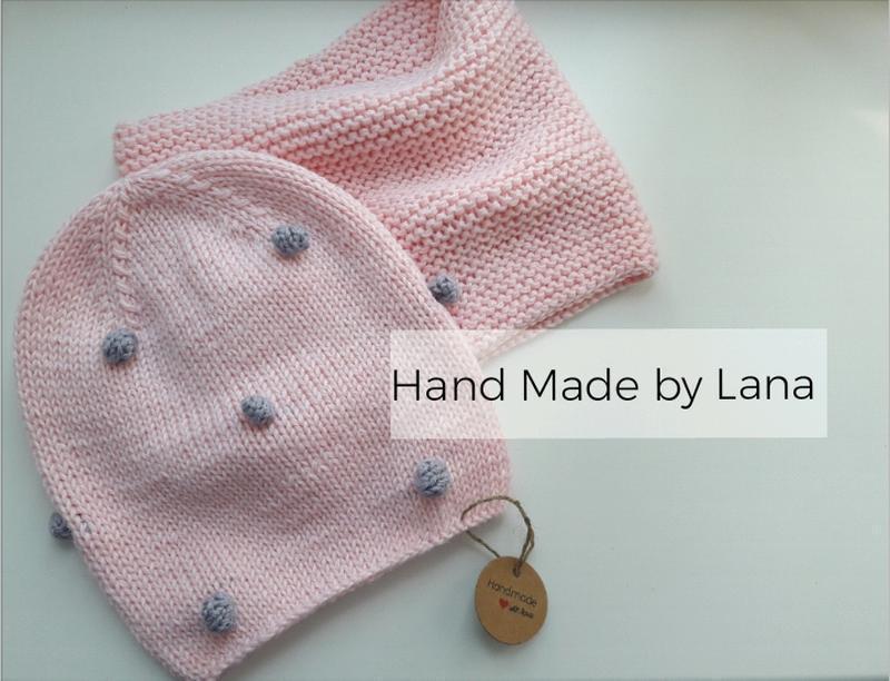 Hand made шапка для девочки шарф для девочки шапка детская - Фото 2