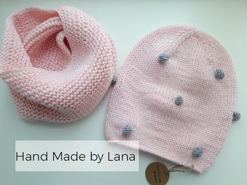 Hand made шапка для девочки шарф для девочки шапка детская - Фото 3