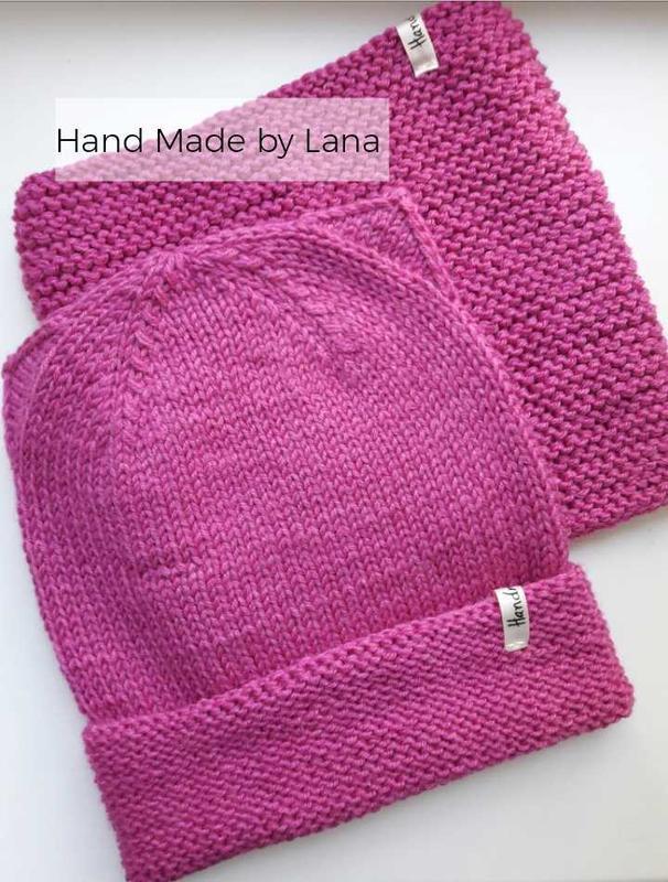 Hand made  шапка для девочки снуд для девочки шарф для девочки - Фото 2