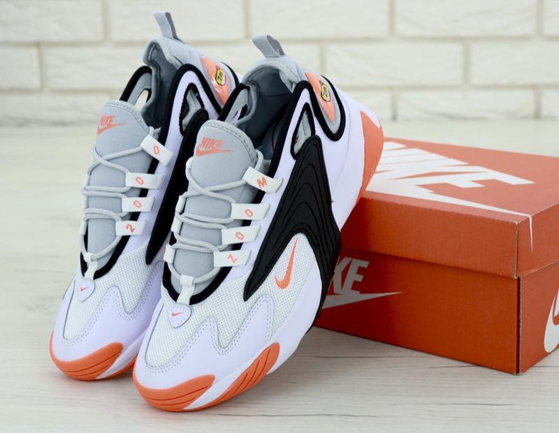 Мужские кроссовки nike zoom 2k white orange