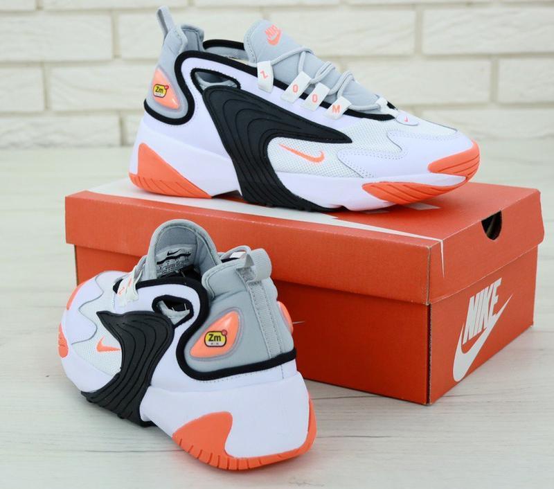 Мужские кроссовки nike zoom 2k white orange - Фото 3