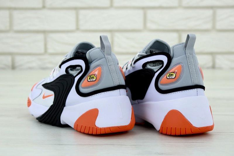 Мужские кроссовки nike zoom 2k white orange - Фото 4