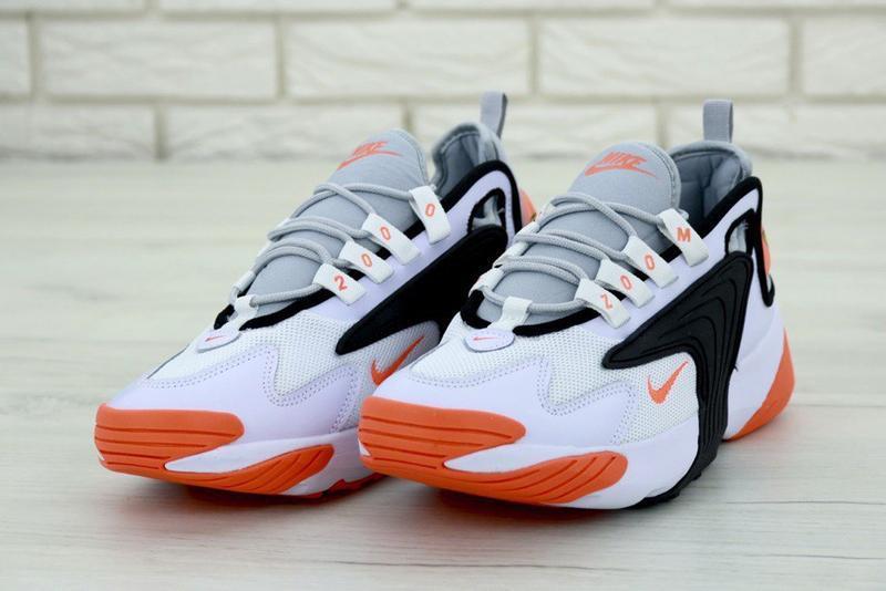 Мужские кроссовки nike zoom 2k white orange - Фото 5