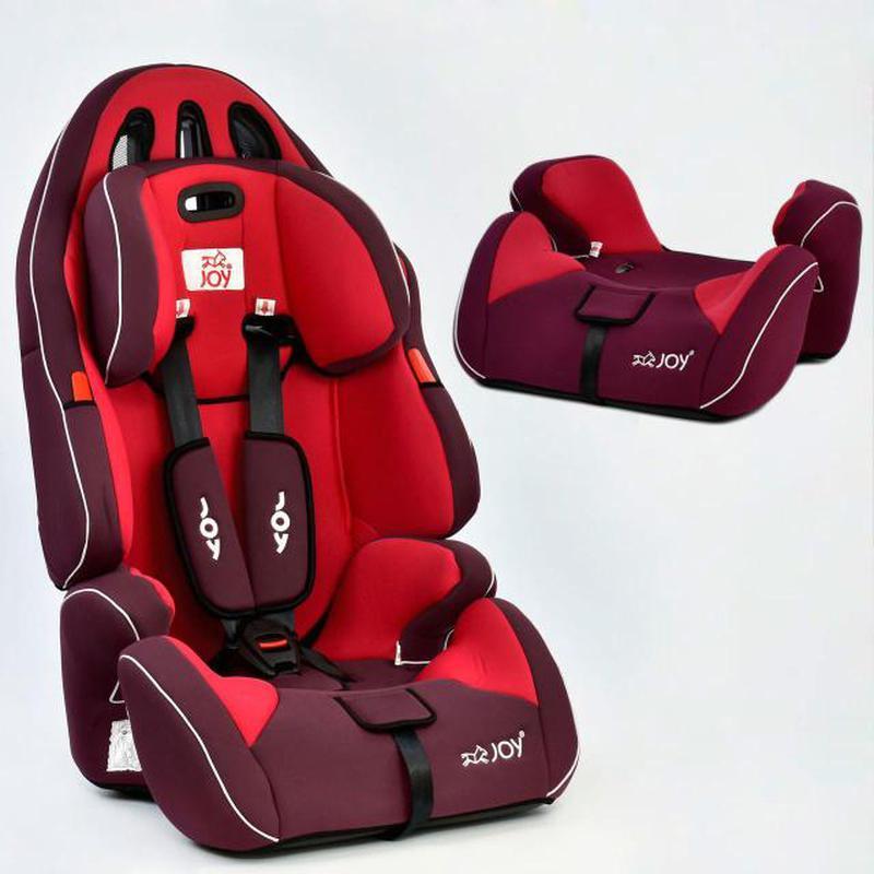 Автокресло универсальное Joy с бустером, 9-36 кг, красное - Фото 2