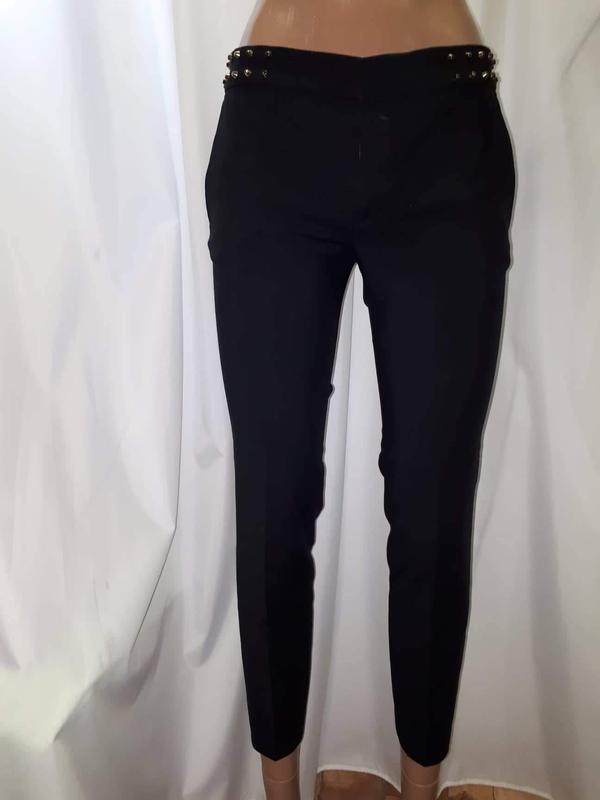 Укороченые зауженые брюки zara