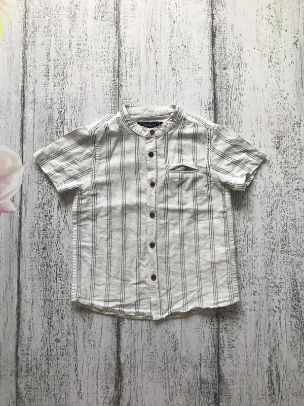 Крутая рубашка тенниска футболка в полоску next 1,5-2 года
