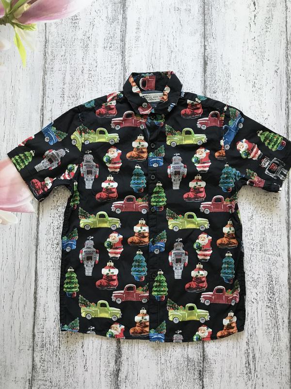 Крутая рубашка тенниска новогодний свитер новый год next 10лет