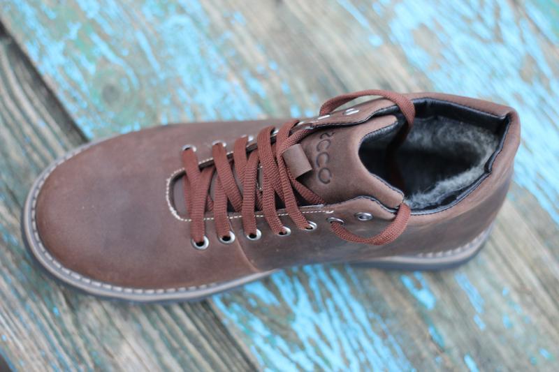 Мужские зимние ботинки чоловічі черевики из натуральной кожи.ecco - Фото 3