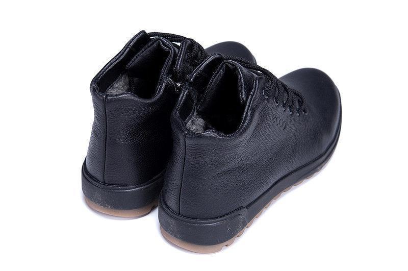 Мужские зимние ботинки (чоловічі черевики) из натуральной кожи... - Фото 4