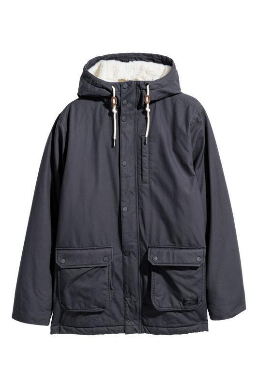 Мужская демисезонная куртка парка h&m