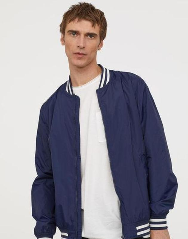 Мужская куртка  ветровка бомбер h&m l.o.g.g. оригинал