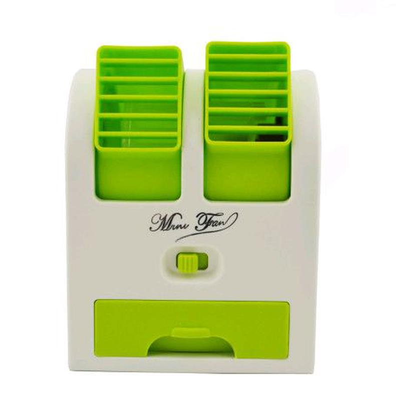 Мини-кондиционер вентилятор Mini Fan UKC HB-168 зеленый - Фото 2