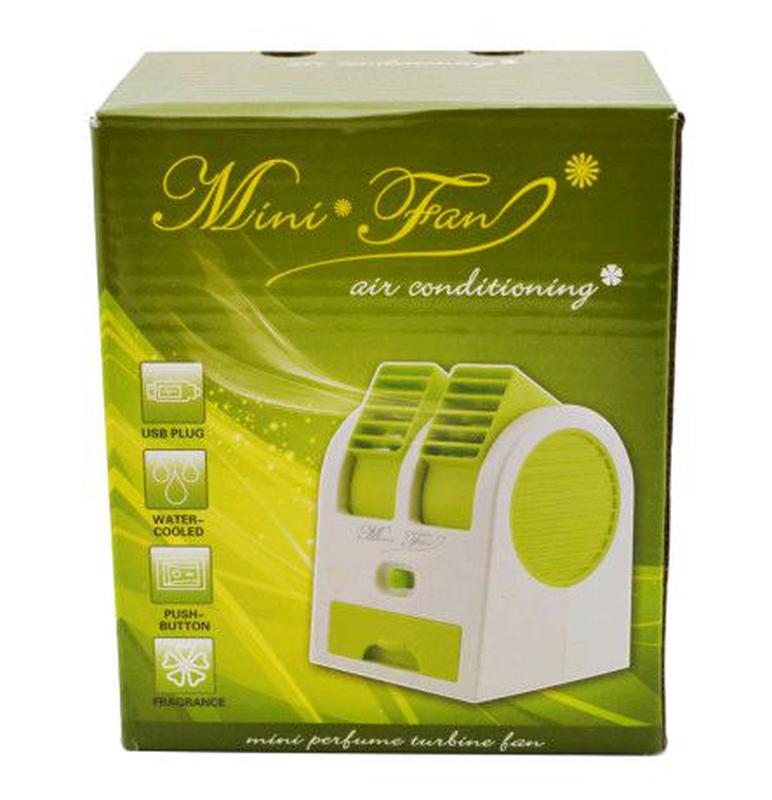 Мини-кондиционер вентилятор Mini Fan UKC HB-168 зеленый - Фото 6