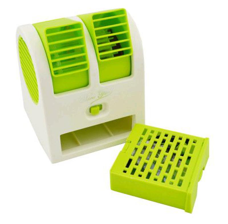 Мини-кондиционер вентилятор Mini Fan UKC HB-168 зеленый - Фото 4