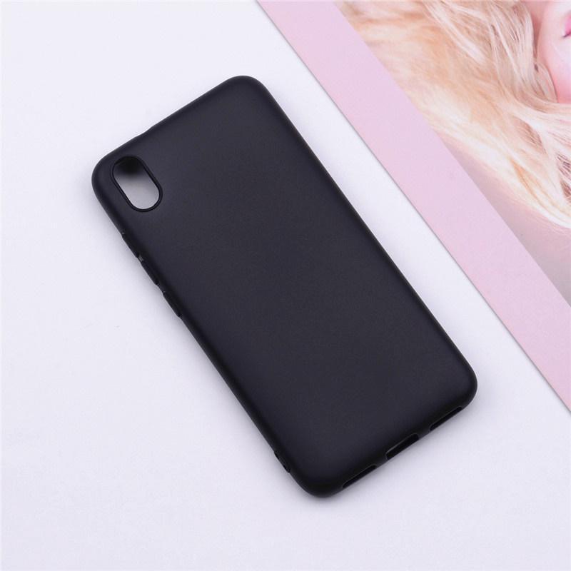 Бампер Xiaomi Redmi 7A черный чехол силиконовый