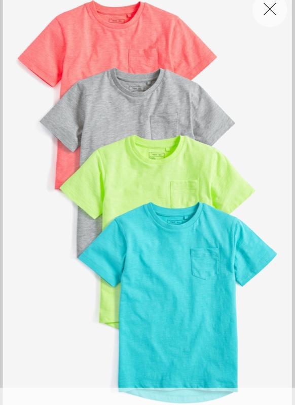 Футболка, футболки для мальчика next, набор футболок, размер 5...