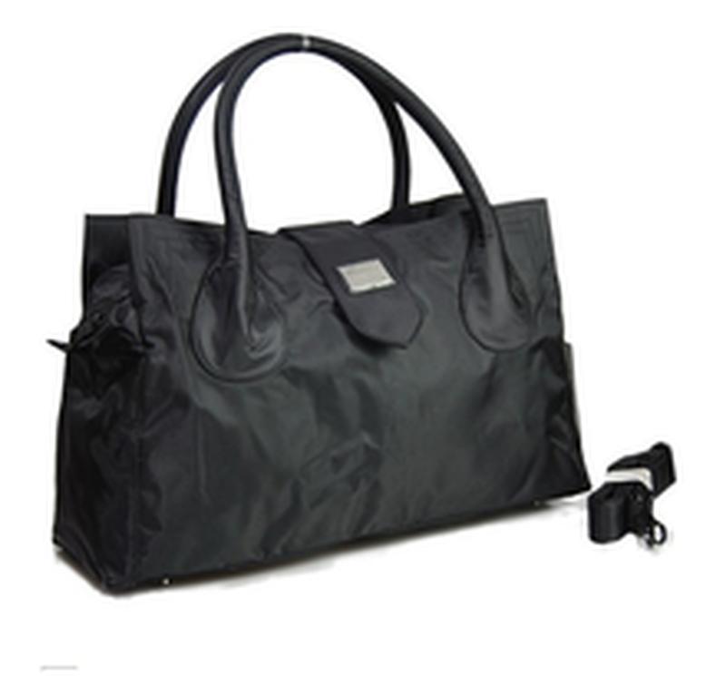 Дорожная сумка - саквояж epol 23601 большая черная, расцветки - Фото 2